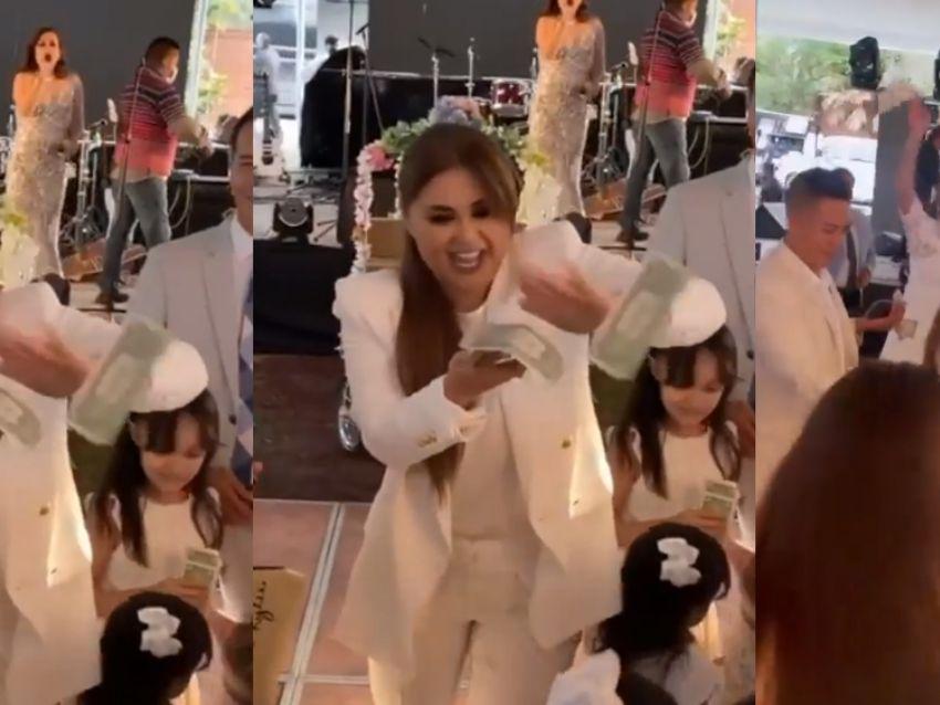¡Al estilo 'Canelo'! Gomita lanza dólares en bautizo y la 'destrozan' en  redes   Puro Show